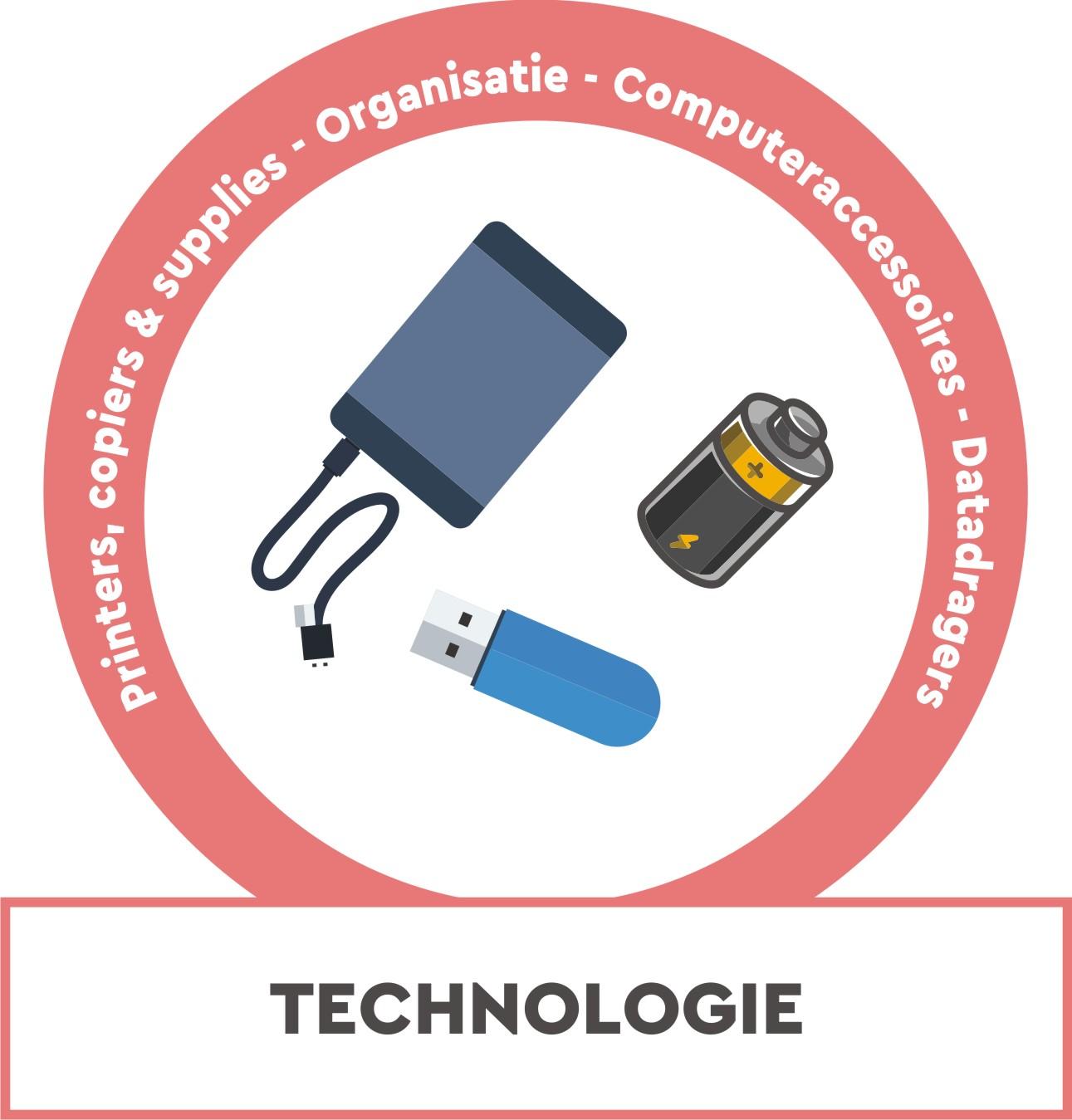 Printers, kopiemachines, organisatie, computeraccessoires, dataopslag, projectoren, ...