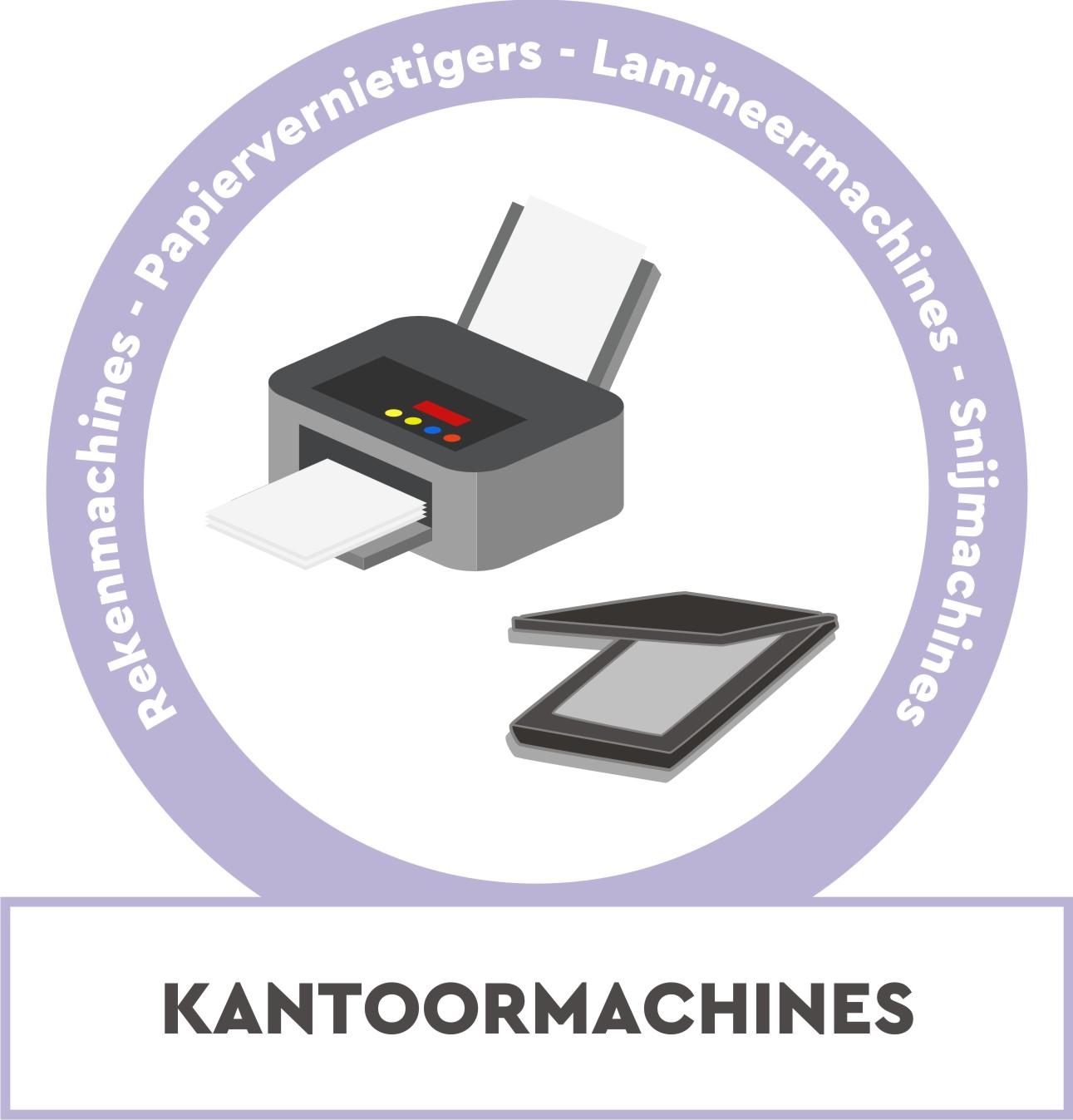 Papiervernietigers, rekenmachines, snijmachines, lamineermachines, inbindmachines, beletteringsystemen, ...
